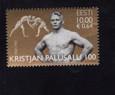614140888 ESTLAND ESTONIA 2008 ** MNH  SCOTT 591 KRISTJAN PALUSALU OLYMPIC WRESTLING GOLD MEDALIST - Estonie