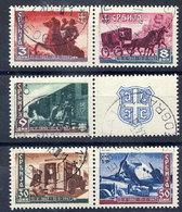 SERBIA 1943 Postal Centenary Set Used. Michel 94-98 - Occupation 1938-45