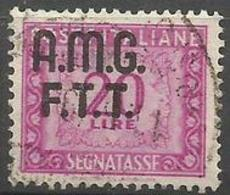 Trieste Zone A - 1949 Postage Due Numerals  20L Used (2-line Overprint)   SG D57 Sc J15 - Portomarken