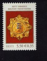 614141422 ESTLAND ESTONIA 2008 ** MNH  SCOTT 592 STATE AWARDS OF THE BALTIC COUNTRIES - Estonie