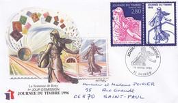 FRANCE -  FDC JOURNEE DU TIMBRE 1996 LA SEMEUSE DE ROTY - 16.3.1996 CHINON 37 / 1 - FDC