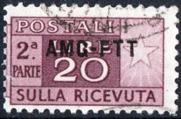TRIESTE, ZONA A, ITALIA, ITALY, PACCHI POSTALI, PARCEL POST, 1949, FRANCOBOLLO USATO Michel PK19   Scott Q19 - Pacchi Postali/in Concessione