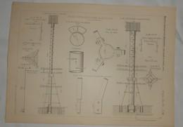 Plan De Balises Métalliques à Hune Du Sauvetage. 1885. - Public Works
