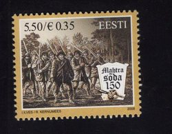 614148334 ESTLAND ESTONIA 2008 ** MNH  SCOTT 599 PEASANT WAR AT MAHTRA 150 TH ANNIV - Estonie