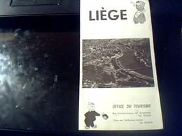 Depliant  Touristique Ancien De Liege  Belgique  Annee 1959 - Tourism Brochures