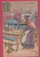 ILLUSTRATEUR  - GALRY--Ces Bons Normands---Ca Fera Un Rude Lapin Note Gars.....il A Vidé La Pinte...... - Illustrators & Photographers