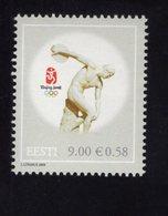 614148763 ESTLAND ESTONIA 2008 ** MNH  SCOTT 601 2008 SUMMER OLYMPICS BEIJING - Estonie