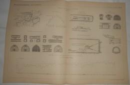 Plan Des Travaux Du Tunnel De L'Arlberg. Autriche. 1885. - Travaux Publics