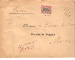 TP 144 S/L.recommandée Du Gouvernement Belge C.Ste Adresse 31/8/1916 V.Baron De Groote Ministre Belge Suisse 2285 - Guerre 14-18