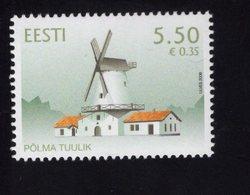 614149144 ESTLAND ESTONIA 2008 ** MNH  SCOTT 602 POLMA WINDMILL - Estonie