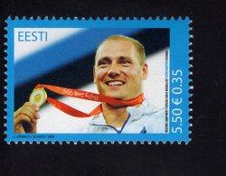 614151121 ESTLAND ESTONIA 2008 ** MNH  SCOTT 604 GERD KANTER OLYMPIC DISCUS CHAMPION - Estonie