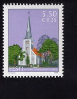 614151727 ESTLAND ESTONIA 2008 ** MNH  SCOTT 605 CHURCH OF THE HOLY CROSS AUDRU - Estonie