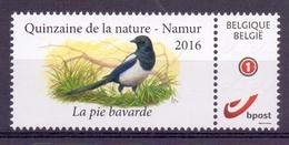 Belgie - 2016 - OBP - **  - Duostamp - Ekster - La Pie Bavarde - Quinzaine De La Nature - Namur - A Buzin  ** - Belgique