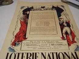 ANCIENNE PUBLICITE EN PRENANT UN BILLET LOTERIE NATIONNAL 1939 - Advertising