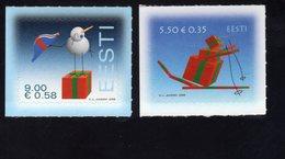614153044 ESTLAND ESTONIA 2008 ** MNH  SCOTT 608 609 CHRISTMAS - Estonie