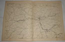 Plan De La Nouvelle Dérivation D'eau De Source à Paris. 1885. - Travaux Publics