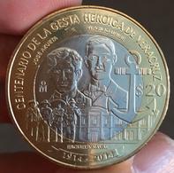 MEXICO 2014 $20 VERACRUZ Battle Centenary BIMETALLIC Commemorative Issue Coin, BU State, Encapsulated, Selected - Mexico