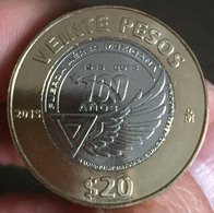 MEXICO 2015 $20 AIR FORCE Centenary BIMETALLIC Commemorative Issue Coin, BU State, Encapsulated, Selected - Mexico