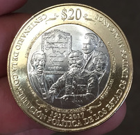 MEXICO 2017 $20 1917 CONSTITUTION Centenary BIMETALLIC Commemorative Issue Coin, BU State, Encapsulated, Selected - Mexico