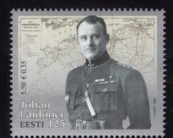 614155801 ESTLAND ESTONIA 2009 ** MNH  SCOTT 612 GEN JOHAN LAIDONER - Estonie
