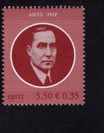 614156131 ESTLAND ESTONIA 2009 ** MNH  SCOTT 613 ANTS PIIP PRIME MINISTER - Estonie