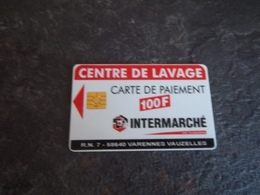 ANCIENNE CARTE A PUCE LAVAGE INTERMARCHE B.E !!! - Frankrijk