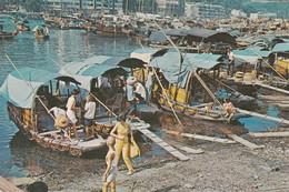 HONG KONG THE FLOATING POPULATION  VIAGGIATA - Cina (Hong Kong)