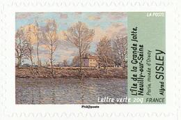 FRANCE Le Thème De L'eau. Alfred SISLEY Neuf**. L'Ile De La Grande Jatte, Neuilly Sur Seine. - Impressionisme