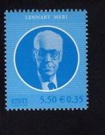 614156395 ESTLAND ESTONIA 2009 ** MNH  SCOTT 614 PRES LENNART MERI - Estonie