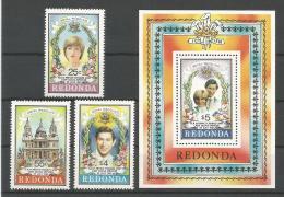 A01519)Royal Wedding / Lady Di: Redonda 72 - 74** + Bl 11** - Familles Royales
