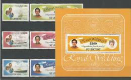 A01521)Royal Wedding / Lady Di: St. Vincent 608 - 613 A** + Bl 14** - Familles Royales