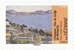 FRANCE Le Thème De L'eau. Paul CEZANNE Neuf**. L'Estaque, Vue Du Golfe De Marseille. - Impressionisme
