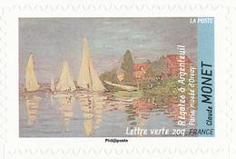 FRANCE Le Thème De L'eau. Claude MONET Neuf**. Régates à Argenteuil. - Impressionisme