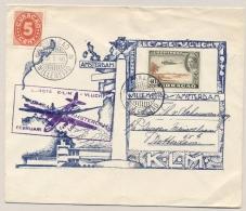 Curacao - 1946 - 40 Cent Luchtpost En 5 Cent Cijfer Op Vliegbrief Van Willemstad Naar Rotterdam - Niederländische Antillen, Curaçao, Aruba