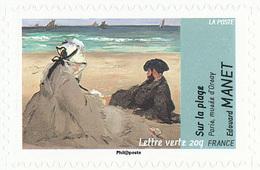FRANCE Le Thème De L'eau. Édouard MANET Neuf**. Sur La Plage. - Impressionisme