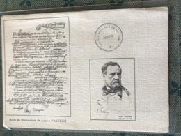 Acte Naissance Louis Pasteur - Altre Celebrità