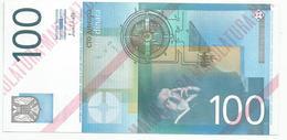 Yugoslavia 100 Dinara 2000. UNC NOT ISSUED MAKULATURA Unfinished Print Essay Trial - Yugoslavia