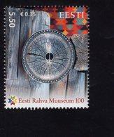 614158453 ESTLAND ESTONIA 2009 ** MNH  SCOTT 615 ESTONIAL NATIONAL MUSEUM CENT - Estonie