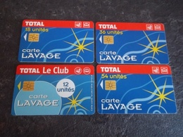 SERIE DE 4 CARTES A PUCE LAVAGE TOTAL PUCES SO3 T.B.E !!! - Frankrijk