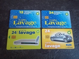 LOT DE 4 CARTES A PUCE LAVAGE BP AVEC 2 SERIES LIMITEES T.B.E !!! - Frankrijk