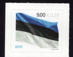 614159404 ESTLAND ESTONIA 2009 ** MNH  SCOTT 620 ESTONIAN FLAG 125TH ANNIV - Estonie
