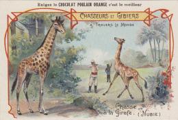 Chromos - Chromo Poulain - Chasseurs Gibiers - Chasse à La Girafe Nubie - Soudan Egypte - Poulain