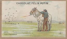 Chromos - Chromo Chocolat Félix Potin - Chasse Aux Vanneaux - Cheval - Chocolat