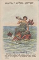 Chromos - Chromo - Mythologie - Triton - Coquillage Conque - Guérin Boutron - Guérin-Boutron