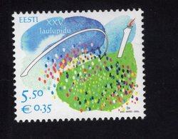 614159734 ESTLAND ESTONIA 2009 ** MNH  SCOTT 620 25TH SONG FESTIVAL - Estonie