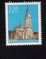 614160169 ESTLAND ESTONIA 2009 ** MNH  SCOTT 621 ALEXANDER CHURCH NARVA 125TH ANNIV - Estonie