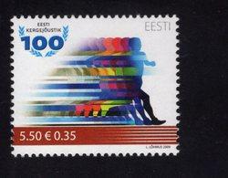 614160547 ESTLAND ESTONIA 2009 ** MNH  SCOTT 623 FIRST TRACK AND FIELD COMPETITION IN ESTONIA - Estonie