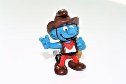 Smurfs Nr 20122#3 - *** - Stroumph - Smurf - Schleich - Peyo - Cowboy - Schtroumpfs