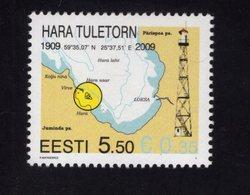 614161009 ESTLAND ESTONIA 2009 ** MNH  SCOTT 624 LIGHTHOUSE - Estonie