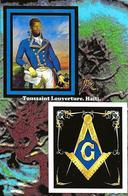 CPM Haïti Franc Maçonnerie Maçonnique Toussaint Louverture Jihel Tirage Signé 30 Exemplaires Numérotés Signés - Postcards